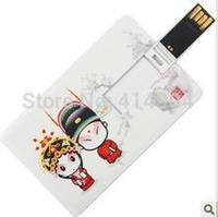 Free Shipping Waterproof PenDrive, Real 2GB/4GB/8GB/16GB/32GB Free Print Credit Card Shape Usb Flash Pen Drive Memory Stick