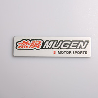 Free Shipping (5pieces/lot) New Car Styling 3D Metal Car Stickers,RED MUGEN Motor Creative Design Studio Car Sticker and Decals