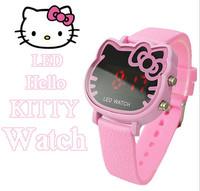 hello kitty mk fashion watch fashion pink  cartoon watch ladies watch LED