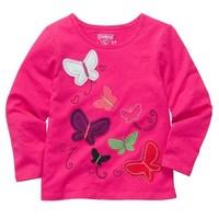 girl pink spring autumn cotton t shirt girl basic long sleeve t shirt 6pcs/Lot Free shipping Wholesale
