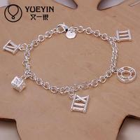 Jewelry Wholesale 10pcs/lot H184  Latest Women Classy Design 925 silver plated bracelet Factory Direct Sale