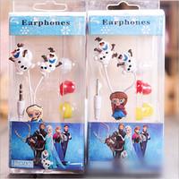 2014 new arrive Frozen Princess Snow Treasure Series 3.50MM universal Earphones cartoon earbud headphones free shipping