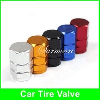 A00001 - 2014 Bright Color Aluminium Alloy Car Sterling Tire Valve Auto Cycle Valve Cap 4pcs/set Car Accessaries Free Shipping