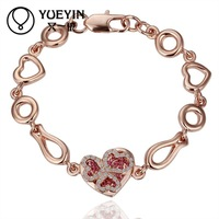 Jewelry Wholesale 10pcs/lot B010  Nickle Free    Fashion Jewelry 18K Real Gold Plated Bracelets For Women