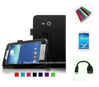 Galaxy Tab 3 lite T110 Cover+ OTG Cable+Film + Stylus + Stands Protection Skin Case Cover for Samsung Galaxy Tab3 lite T110 T111
