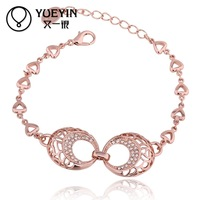 Jewelry Wholesale 10pcs/lot B062  Nickle Free    Fashion Jewelry 18K Real Gold Plated Bracelets For Women