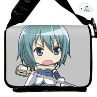 Japanese Anime Cartoon Puella Magi Madoka Magica Miki Sayaka Canvas Strap Purse / Bag / Oblique cross package Package / Packet