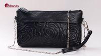 Flowers Embossed Shoulder Bags Women Handbags Real Leather Cross body Purses 8 Colors Purses BH8022