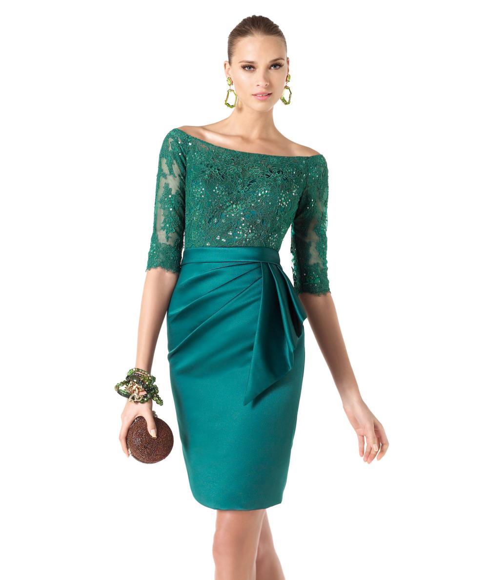 Vestidos Verde Esmeralda Cortos Verde Esmeralda Vestido Corto