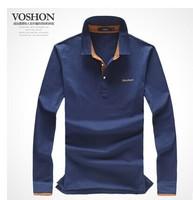 2014 Hitz Mens Large code pure cotton print man Lapel long sleeve shirt simple autumn