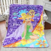 Free Shipping Original Disny Fairies Tinkerbell Cartoon Hugs Super Soft Plush Raschel Blanket On The Bed For Kids