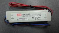 LPV-35-12;12V/3AW meanwell band waterproof switch mode led power supply;AC100-240V input;12V/36W output