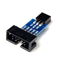10PCS 10 Pin to Standard 6 Pin Adapter Board For ATMEL AVRISP USBASP STK500 KK