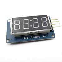 10PCS 4 Bits Digital Tube LED Display Module With Clock Display Board For Arduino DIY