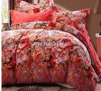 jacquard fabric 100% cotton figured 4-piece printed comforter bedding sets bedding sheet bedspread / pillowcase CTDWH
