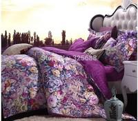 jacquard fabric 100% cotton figured 4-piece printed comforter bedding sets bedding sheet bedspread / pillowcase CZ