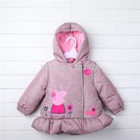 Peppa pig coats parka for Girls Children winter Jacket Baby girl coat outerwear warm hooded coats winter jackets
