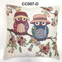 Owl jacquard cushion cover owl cushion cover pillowcase