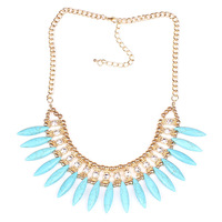 Sell like hot cakes   Foreign trade new popular fashion jewelry  turquoise necklace