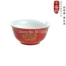 6pcs Chinese gift shop tea cup high quality cup Gold peony tea cup tea set Wedding