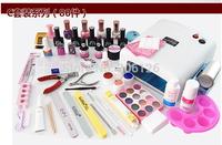 Wholesale - Pro Nail Art UV Gel Tool Kit UV Lamp Brush Remover False Tips CODAN nail gel nail kit 80pcs/set