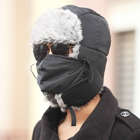 New Arrival 2014 Fashion Outdoor Winter Hats for Men Snow Caps With Ear Flaps for Russia Specially HH01