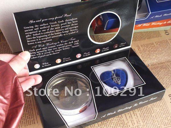 BBV//Bulking WE05 CHARMING #wish pearl#, wish pearl necklace gift box & shell , FREE SHIP!!!!!!!!///Free ship(China (Mainland))