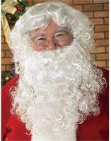 New Christmas Santa Claus Costume Beard With Wig Set Natural Kanekalon hair no lace Full wigs