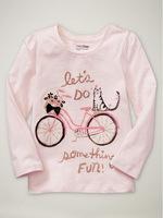 Wholesale girl spring autumn cotton t shirt  basic long sleeve pink  t shirt 6pcs/Lot Free shipping