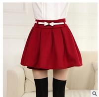Korean Skirt Women Winter Autumn Skirt Women Fashion High Waist Ball Gown Skirts Female Retro Knitting Shorts Skirts For Women