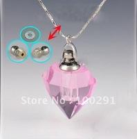 Free ship Gary's pink crystal QWE805 lazurite/azure stone heart pendant necklace 2012, bulk!!!!!!!