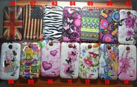 10PCS / LOT Flower Butterfly Jellyfish US UK flag Owl Zebra Tribal Soft Skin Case For HTC Desire 310 Send Screen protection film