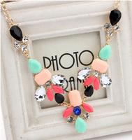 Min. Order $8.8(Mix Orders) New 2014 Fashion Shining Luxury Cyrstal Rhinestone Drop Lady Evening Party Necklaces FN0108
