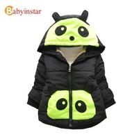 Winter 2014 New Children Boys Girls  Cartoon Thick Hooded Jacket Coat: Baby Warm Outwear Padded Unisex Wear Animal Panda Style