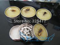 Free shipping 6pcs/lot (dia 5.3cm) 3-layer amber luminous Metal herb grinder Tobacco Grinder Machine manual Gift GR032