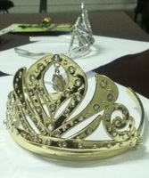 2014 NEW Design Frozen Tiara Princess Anna Tiara Golden & Silver Frozen Crown 100pcs/lot Frozen Anna Crown Cosplay Tiara