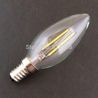 10PCS/LOT- LED Candle Light COB Tungsten Bulb Lamp High Brightnes 4W E14 AC220-240V Warm White/White