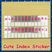 [FORREST SHOP] 26 Alphabet Index Stickers / Mini Memo Pad Sticky Note / Kawaii Sticker Bookmark / Post It Sticker WLT-8936