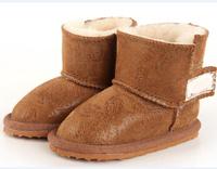 Brand Boys And Girls Non-Slip Warm Kids Cotton Shoes Australia Boots Winter Sheepskin Wool-One Children Snows Boots ILTX5008
