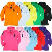 Free Shipping NEW 2014 Wholesale 1PC/Lot Children Cotton Child Boy Girl Summer Autumn Sport T-Shirt Tops Tees Long Sleeve Gift