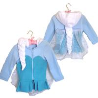 frozen hoodies 2014 New girls Frozen coat Elsa costume jacket clothing for children girls hoodies Fleece baby & kids coat