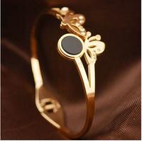 5.8cm Luxury Brand butterfly with rhinestone titanium men's vintage jewelry bracelets BR181
