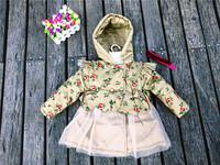 HB0500 Fashion children cotton coat, elegant flower girl coat with waist belt, think cotton trench for winter hoodie, honey baby