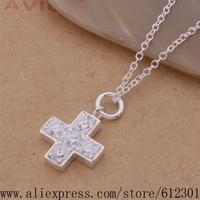 925 sterling silver Necklace 925 silver fashion jewelry pendant Cross /fhianypa brjakiqa P350