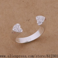 925 sterling silver ring, 925 silver fashion jewelry, Open heart /bctajuaa cozalgga R535
