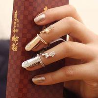 Min.Order $8.8(Mix Orders) Free Shipping Fashion Trendy Women Noble Charm Crystal Rhinestone Nail Ring FR0207