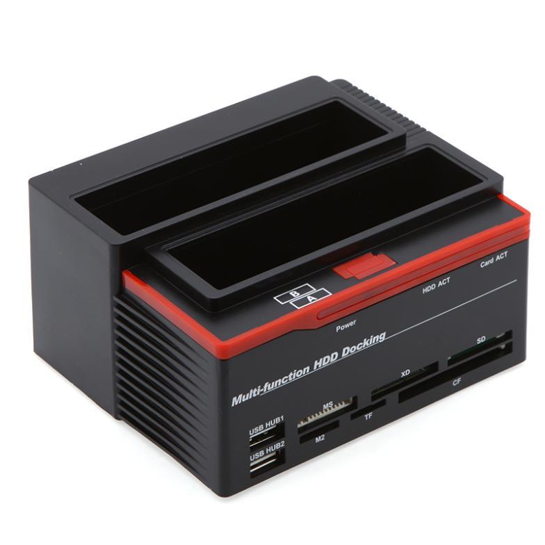 1 2.5 inch /3.5 inch SATA 1 IDE HDD Docking Station Clone Hard Disk Drive Dock USB HUB(China (Mainland))