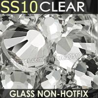 SS10 2.7-2.8mm,white Clear Non HotFix FlatBack Rhinestones,1440pcs/bag DIY DMC  loose nail art crystals strass glitters stones