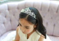 Christmas Frozen Snowflake Tiara Crown Bridal Jewelry Crown Frozen Snowflake Crystal Tiara Crown 100pcs/Lot DHL Free Shipping
