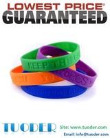 Factory supply 500pcs/lot debossed silicone bracelets customized debossed logo on bracelets